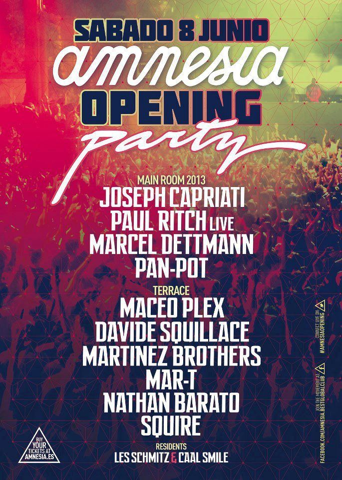 Amnesia opening party 2013