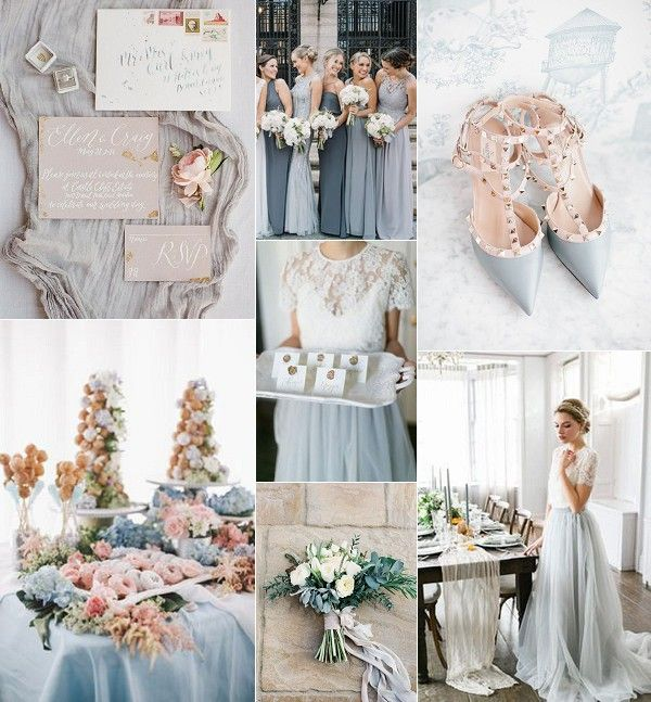 Grey French Chic Wedding Inspiration Board | Created by Christina Sarah Photography