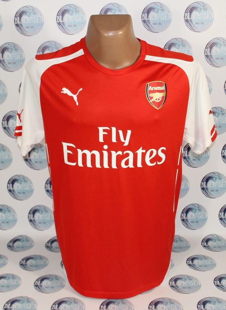 638cd8a449e Arsenal 2014 2015 home football soccer shirt jersey trikot camiseta puma