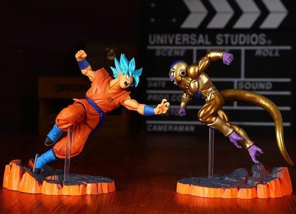 Dragon Ball Z Action Figures Resurrection | Goku Vs Golden Freeza