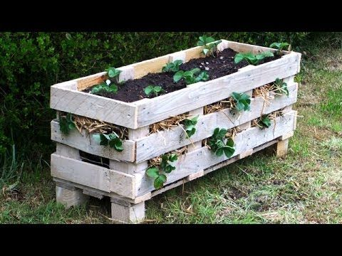 How to make a better Strawberry Pallet Planter - YouTube
