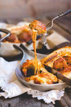 Meatball Marinara Sub Sandwiches |  Get the full recipe! http://steakbytes.com/recipes/meatball-marinara-sub-sandwiches/