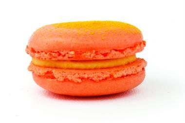 Cheetos-flavored macarons on the #UWS — other flavors available? Candied bacon with maple cream cheese, S'Mores, and the Elvis, made of peanut butter and caramelized bananas.