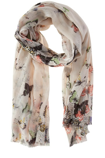Multi Butterfly Scarf | Multi | Oasis Stores