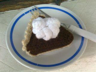 Il blog di Laura: Crostata di cioccolato all'uncinetto (amigurumi)