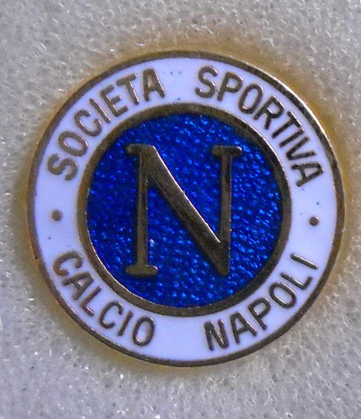 BELLISSIMO DISTINTIVO SPILLA PIN BADGE S.S. CALCIO NAPOLI