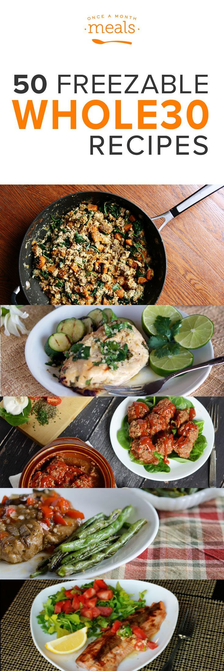 50 Freezable Whole30 Recipes - Time to start meal planning your Whole30 for the New Year! You can keep your resolutions by planning to succeed!