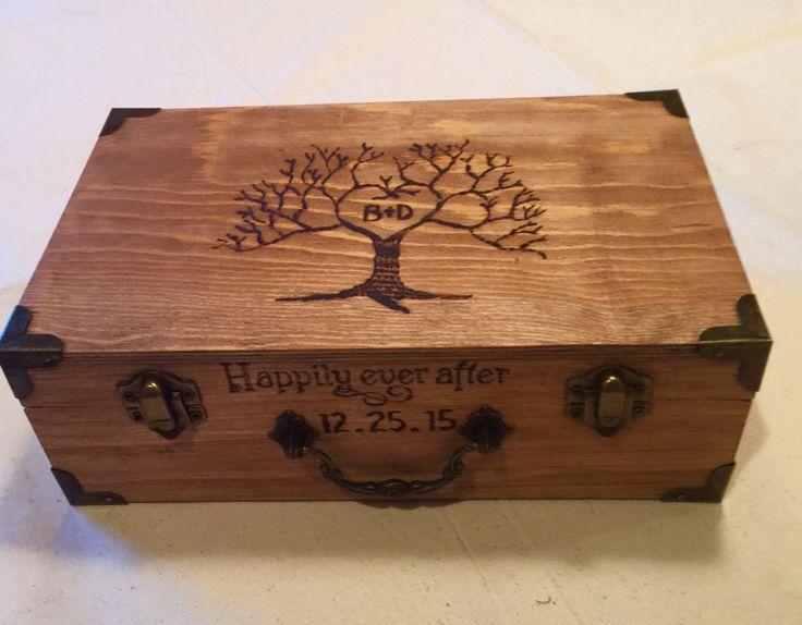Wedding Card Box - Rustic Wooden Card Box - Rustic Wedding Card Box - Rustic Weddings - Advice Box - Love Letter - Card Box - Wedding Gift
