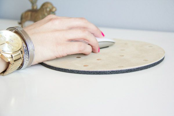 DIY Suede and Gold Leaf Mousepad