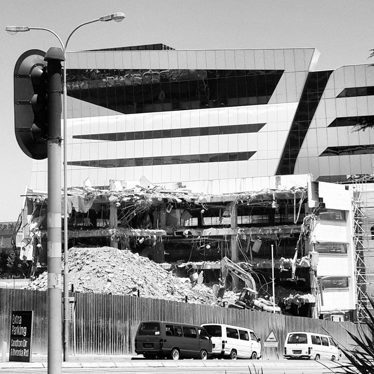 Sandton - Down with the old - up with the new! Johannesburg, South Africa. (Photo: N.Martin)