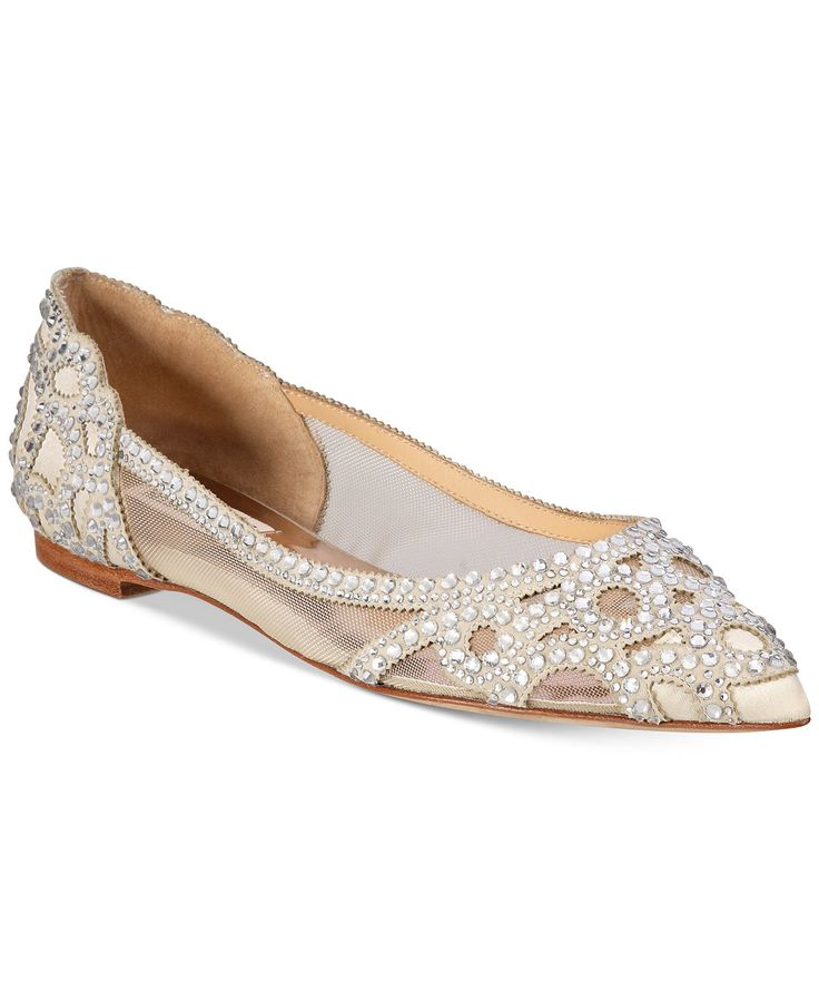 Badgley Mischka Gigi Pointed-Toe Evening Flats - Evening & Bridal - Shoes - Macy's