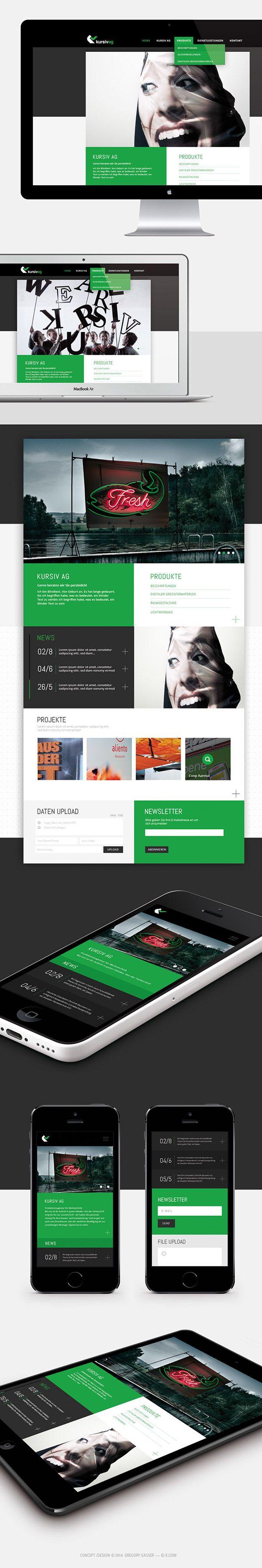 Webdesign, gregory gasser –  on Behance