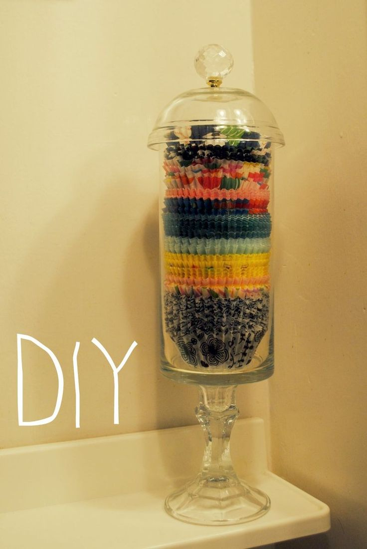 I Made This Cupcake Liner Storage Jar Out Of Dollar Items Believable