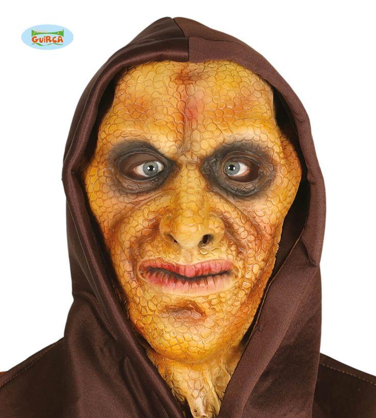 Máscara látex de lagarto humano para hombre y para mujer