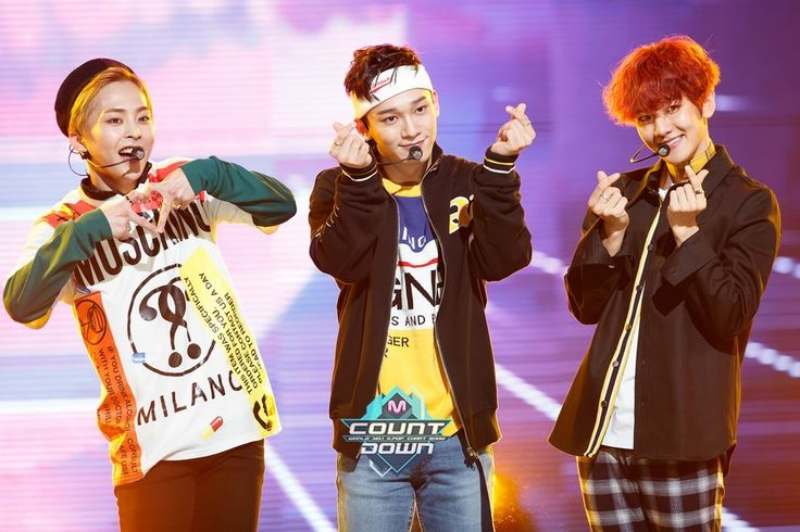 EXO-CBX - 161107 Mnet M! Countdown website update Credit: Mnet. (엠넷 엠! 카운트다운)