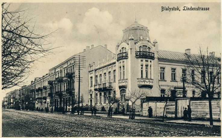 Białystok 1917. Pałac Nowika, obecnie siedziba WKU.