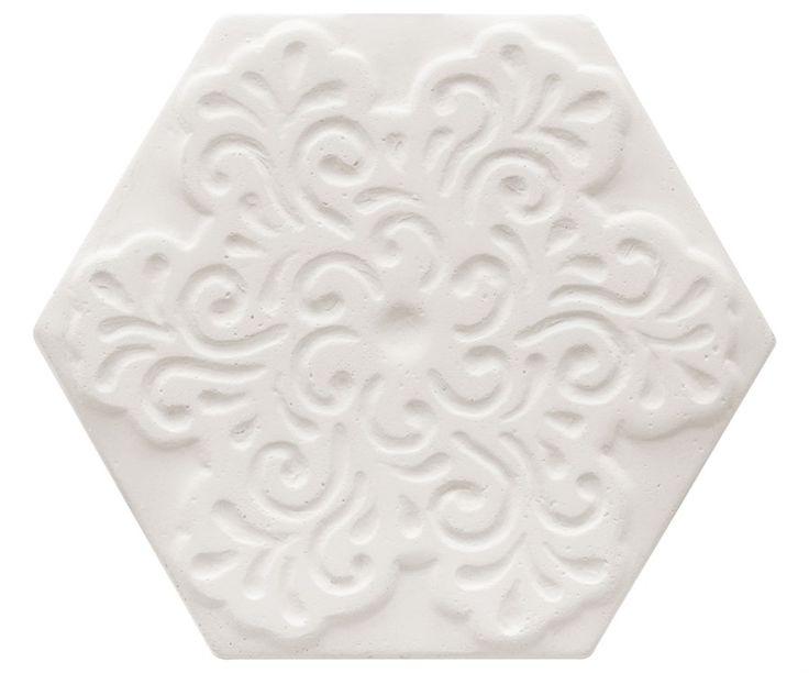 BLOOM WHITE 15X17 CM | Decortiles | Pastilhart Revestimentos Ltda