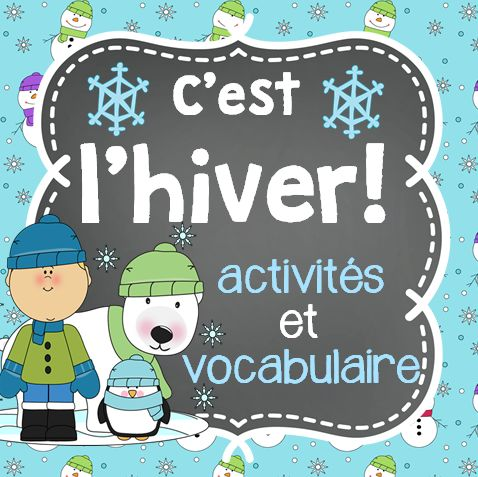 This French Winter package includes 10 activities and 58 vocabulary cards, including the Winter Olympics Sports, that you can use throughout Winter.