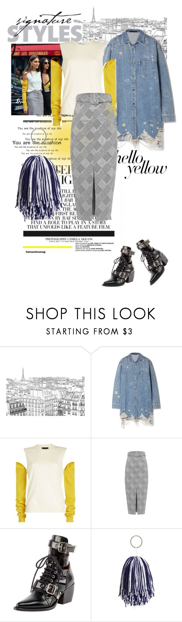 """""""#167"""" by yolins ❤ liked on Polyvore featuring Alexander Wang, Calvin Klein 205W39NYC, Chloé, PopsOfYellow and NYFWYellow"""