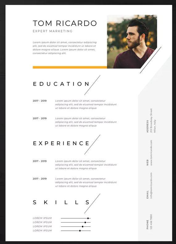 Resume Vol 32 By Jiwstudio On Envato Elements Graphic Design Resume Resume Design Creative Resume Design Template