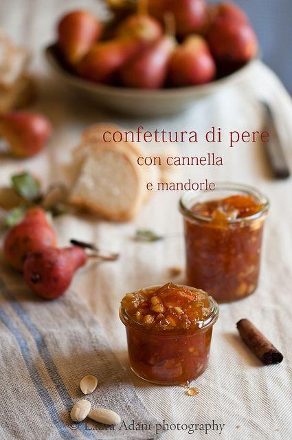 io...così come sono...: Confettura di pere con cannella e mandorle–Pears jam with cinnamon and almonds