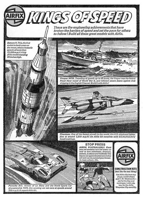 Airfix Kings Of Speed Ad 1972 by combomphotos, via Flickr