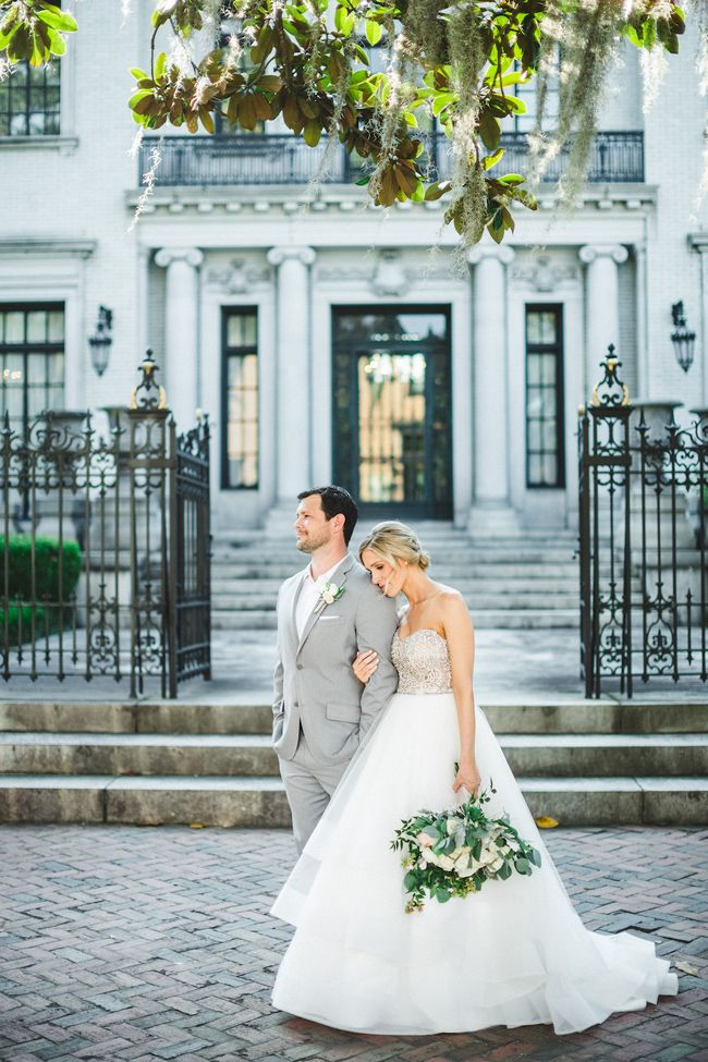 Glamorous Blush Pink And Green Savannah Georgia Wedding I Izzy Hudgins Photography