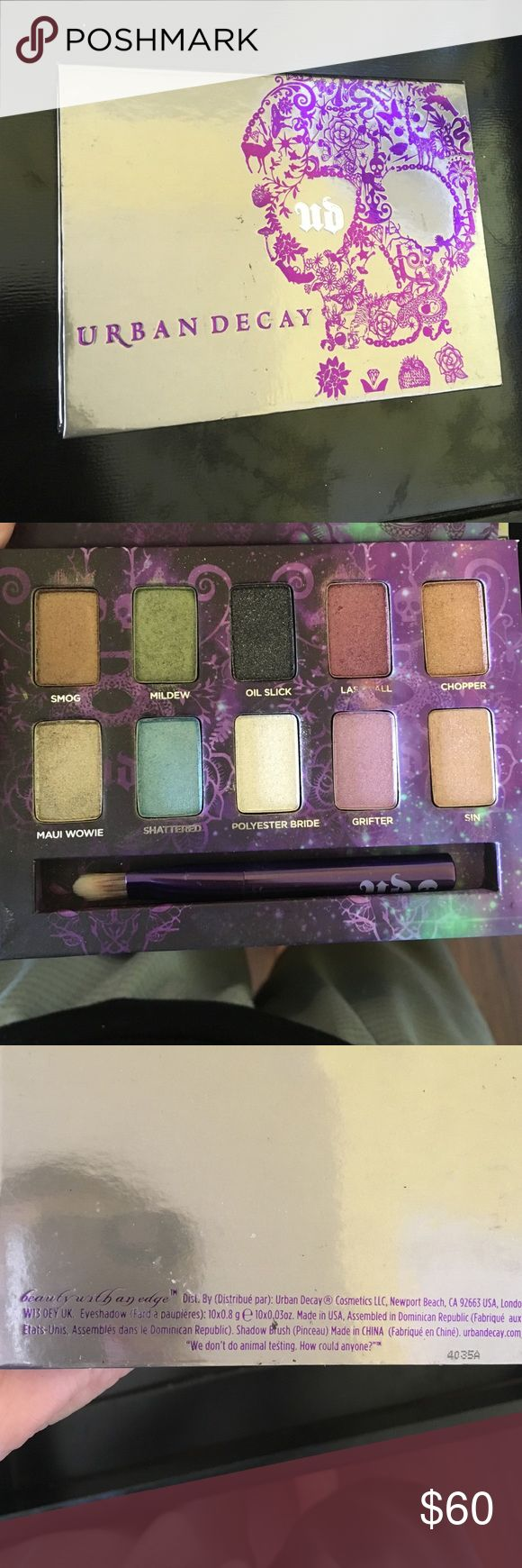 Urban decay ammo palette Super pigmented shimmer eyeshadow. Only been swatched. Not available on the Sephora website anymore, think it was limited edition. Urban Decay Makeup Eyeshadow