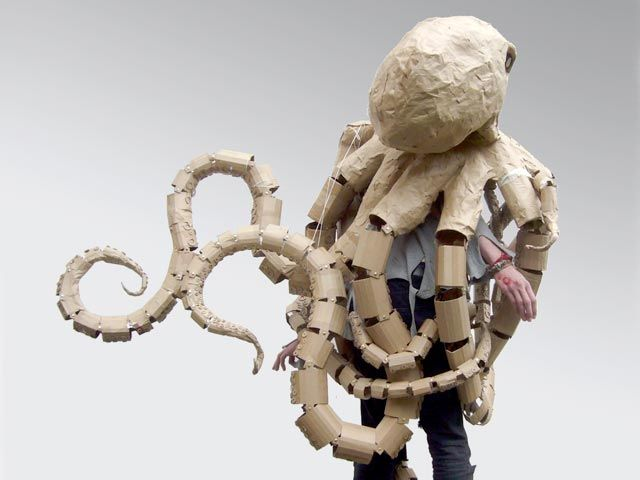Cardboard costume~octopus, I just need to make this and have it attached to my ceiling.