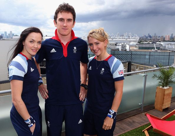 Laura Trott Photos - (FREE FOR EDITORIAL USE)  Cyclists Victoria Pendleton, Geraint Thomas and Laura Trott (L-R) of Team GB…