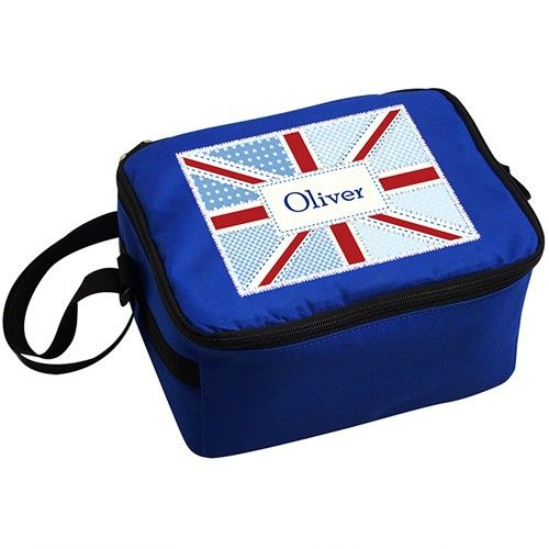 Personalised Patchwork Union Jack Lunch Bag from Personalised Gifts Shop - ONLY £12.99