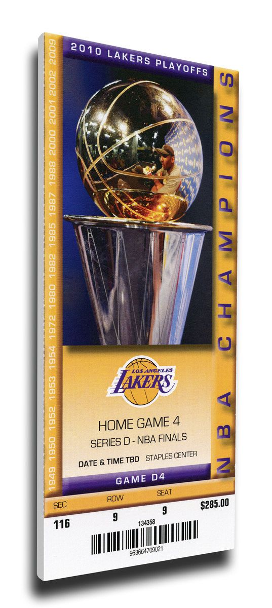2010 NBA Finals Canvas Mega Ticket - Game 7 - Los Angeles Lakers