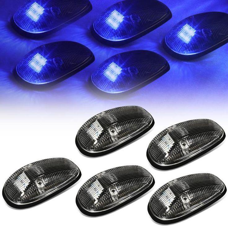 99 02 Dodge Ram Cab Roof Lights Blue Led Black Housing Plug N Play 5pcs Dodge Ram Roof Light Dodge
