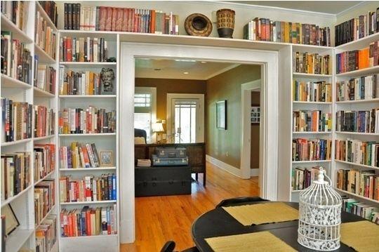 The more bookshelves, the better!