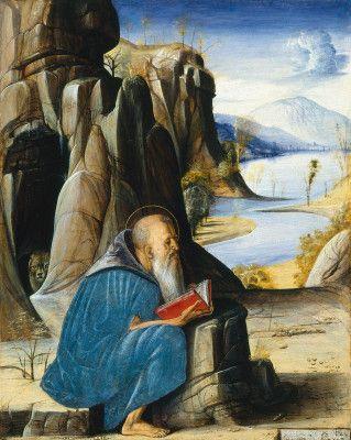 """Alvise Vivarini, """"Saint Jerome Reading,"""" c. 1476"""