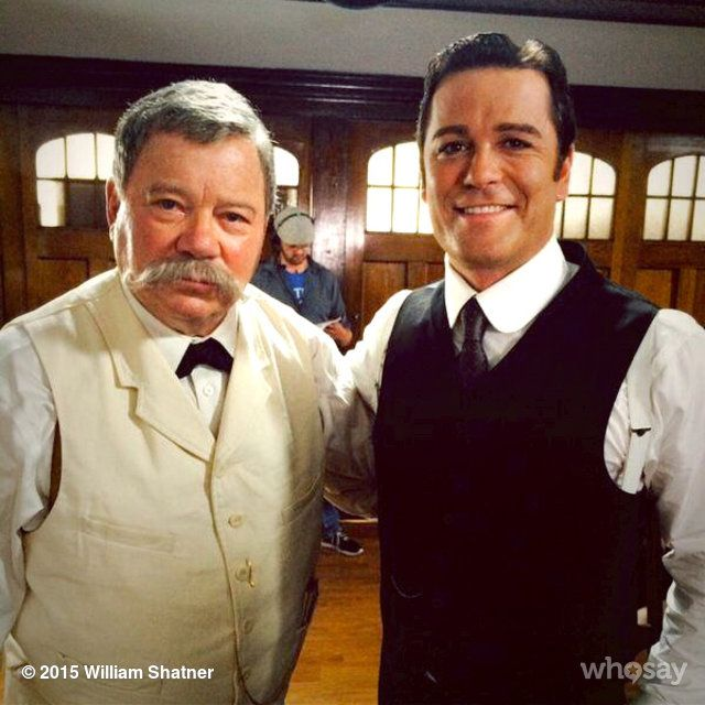 On the set of Murdoch Mysteries with @yannick_bisson. I play Mark Twain look for me coming soon! :-)