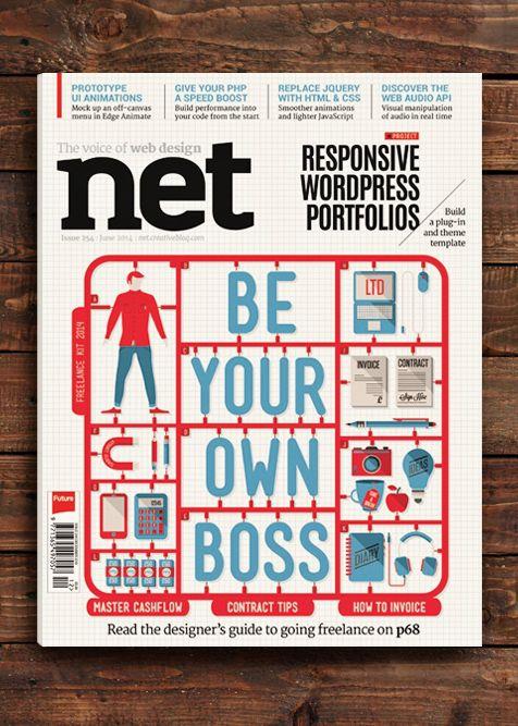 Net Magazine Cover by Neil Stevens, via Behance