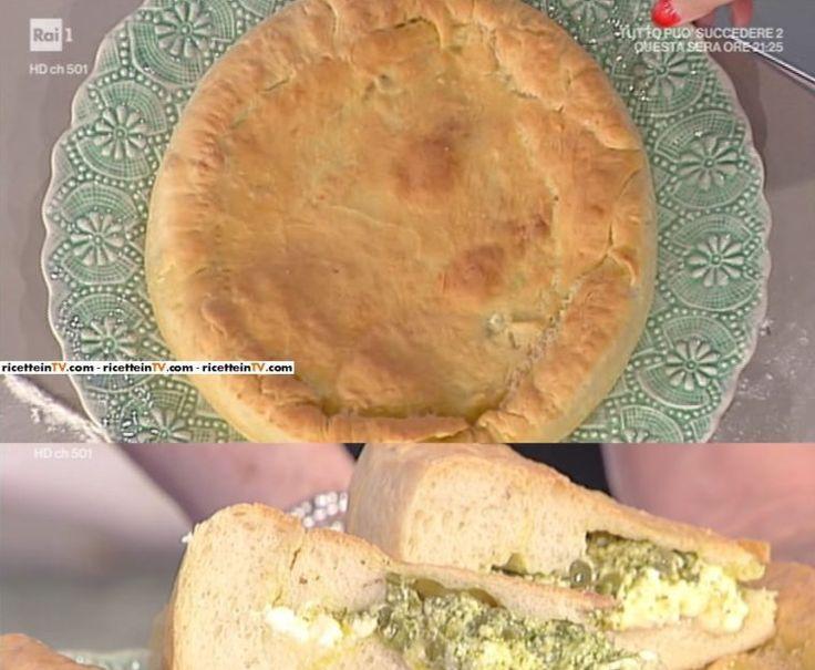 focaccia di patate con pesto fagiolini e crescenza di Anna Moroni