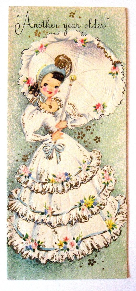 1fb603065017f Items similar to Vintage Birthday Card - Another Year Older UNUSED ...