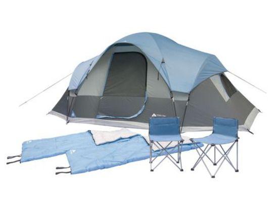 Ozark Trail 5 Piece Premium Tent Combo Set 15'(L)x8'(W) x70''(H) 2 Chairs 2 Bags | eBay