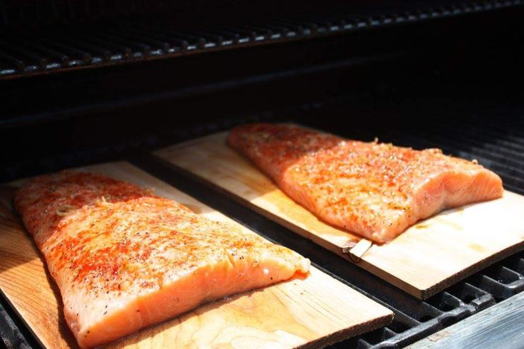 Cedar Smoked Salmon with a Sweet and Spicy rub