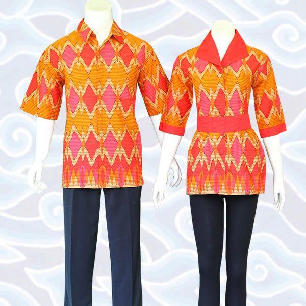 Blus atasan couple kode BC34  lainnya di http://sekarbatik.com/blus-batik-sarimbit/