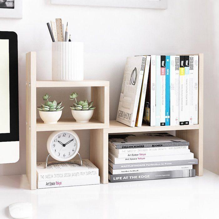 Riaria Verstellbarer Schreibtisch Organizer Aus Holz Burobedarf Lagerregal My Blog In 2020 Lagerregale Hausburo Organisation Schreibtischideen