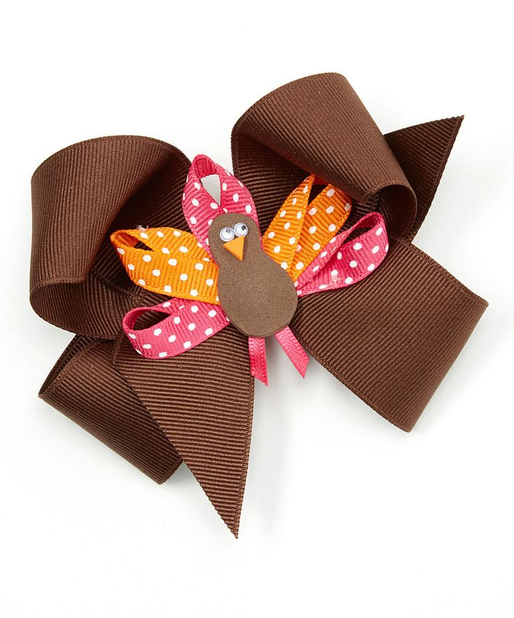Another great find on #zulily! Picture Perfect Hair Bows Brown Turkey Bow - Kids by Picture Perfect Hair Bows #zulilyfinds
