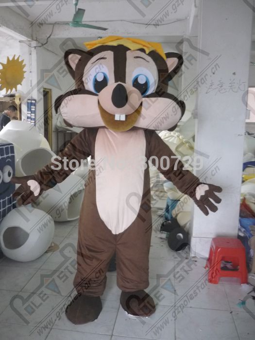 export high quality Personality of brown squirrel mascot costume/adult size can be customized squirrel mascot costume