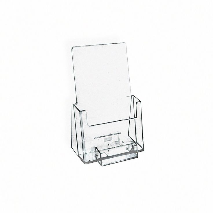Azar displays plastic trifold brochure holders with