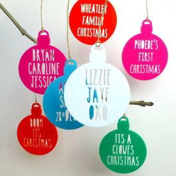 Personalised Message On A Bauble
