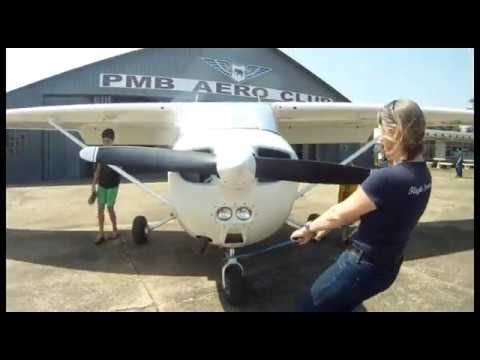 Hottie Girl friend takes my son flying in the Cessna 172