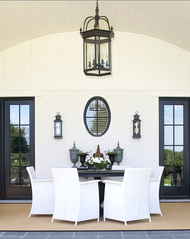 Patio Furniture Design Ideas. This patio was perfectly designed. Sconces are from the Celadon Collection, Montreal Canada. #Patio #PatioFurniture