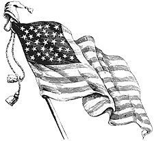 The Old Farmer's Almanac provides a list of etiquette regarding the display, care and positioning of the American Flag, as advised by Congress.